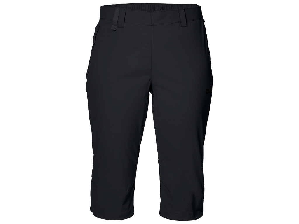 Jack Wolfskin Activate Light 3/4 Shorts - Dame Str. 44 - Black