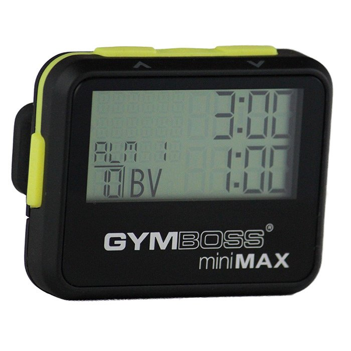 Gymboss miniMAX interval timer (Sort/Gul)
